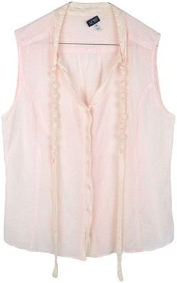 Armani Jeans Pink Cotton Top for Women