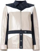 Courreges colour block military jacket