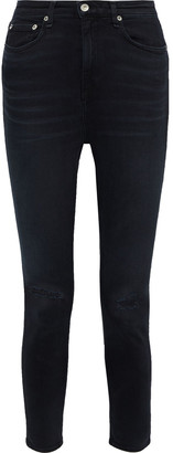 Rag & Bone Nina Distressed High-rise Skinny Jeans