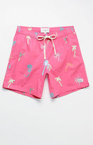 "Modern Amusement Beach Graffiti 17"" Swim Trunks"