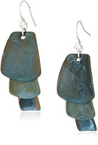 Robert Lee Morris Patina Sculptural Layered Petal Drop Earrings