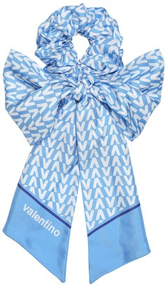 Valentino Exclusive to Mytheresa printed silk-twill scrunchie