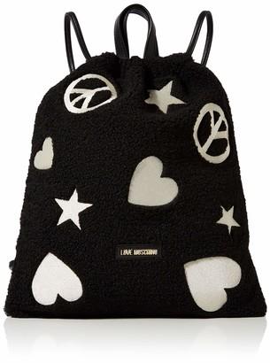 Love Moschino Borsa Eco Shearling E Pu Womens Backpack Handbag