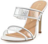 Bettye Muller Delight Vinyl Slide Sandal, White