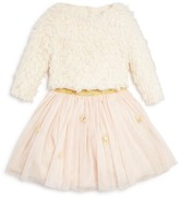Pippa & Julie Girls' Faux Fur Top & Tulle Skirt Set - Sizes 2-6