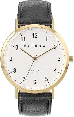 Barrow Petite Watch With Gold Mesh Strap & Black Leather Strap