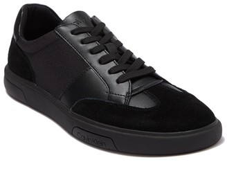 Calvin Klein Gaius Silky Suede & Leather Sneaker