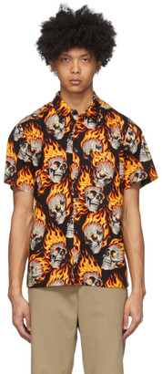 R 13 Multicolor Flaming Hot Heads Shirt