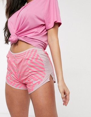 Nike Running Tempo shorts in pink