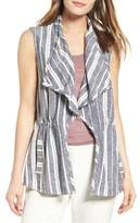Chaus Women's Stripe Linen Blend Vest