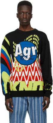 AGR SSENSE Exclusive Multicolor Logo Sweater