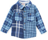 Smiths American Blue Heaven Plaid Oxford Button-Up - Toddler & Boys
