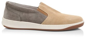 Eleventy Two-Toned Suede & Canvas Slip-On Sneakers