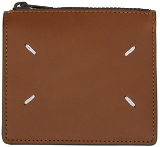 Maison Margiela Brown Zip Bifold Wallet