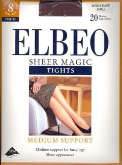 Elbeo Sheer Magic Medium Support XL Tights - Extra Large - Barely Black