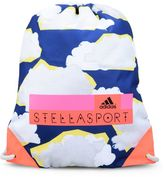 adidas by Stella McCartney Stella McCartney cloud print gym bag