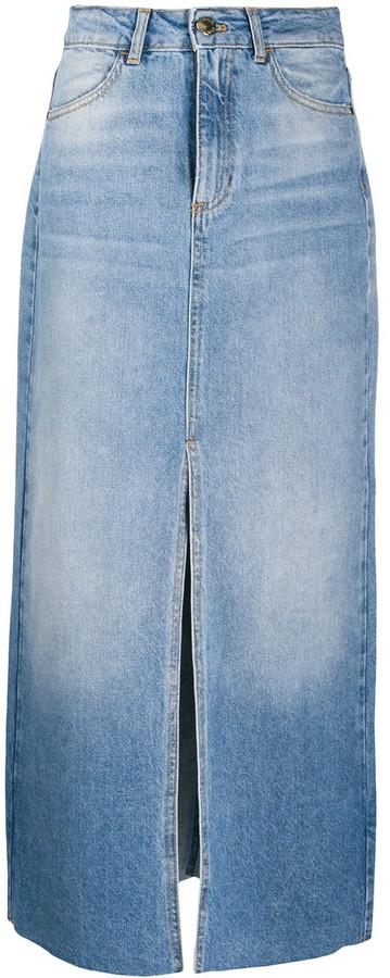 Pinko Maxi Denim Skirt