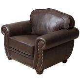 Asstd National Brand Elizabeth Leather Roll-Arm Chair