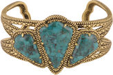 Barse BIJOUX BAR Art Smith by Genuine Turquoise Brass Cuff Bracelet