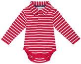 Jo-Jo JoJo Maman Bebe Breton Poloshirt Body (Baby) - Red/Ecru Stripe-18-24 Months