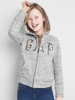Gap Cozy sequin logo zip hoodie
