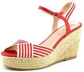 Nine West Breeze Women US 7.5 Red Wedge Sandal