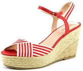 Nine West Breeze Women US 8.5 Red Wedge Sandal