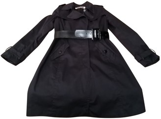 Tara Jarmon Black Cotton Trench Coat for Women