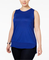 INC International Concepts Plus Size High-Low Tank Top, Only at Macy's