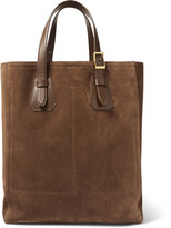 Tom Ford - North West Leather-trimmed Suede Tote Bag