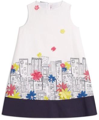 Il Gufo Floral Cityscape Dress