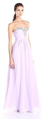 Decode 1.8 Women's Strapless Sweetheart Long Gown with Cut Out Back