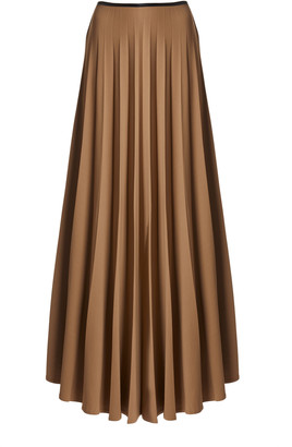 Peter Do Pleated Twill Maxi Skirt