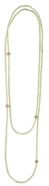 Lagos 18K Gold and Peridot Single Strand Caviar Icon Station Necklace, 34