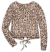 Splendid Girls' Animal-Print Tie-Back Top - Big Kid
