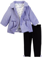 Little Me Lilac Bow 3-Piece Jacket Set (Baby Girls)