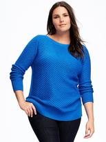 Old Navy Relaxed Plus-Size Textured Boat-Neck Pullover