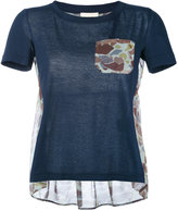 Semi-Couture Semicouture - camouflage print panel T-shirt - women - Cotton/Polyester - S