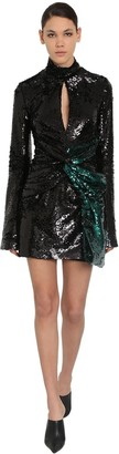 16Arlington Sequined Techno Mini Dress