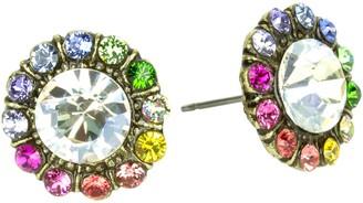 Anne Koplik Rainbow Flower Post Earrings