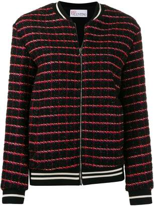 RED Valentino checked bomber jacket