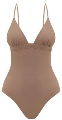 Casa Raki - Maggie V-neck Swimsuit - Beige