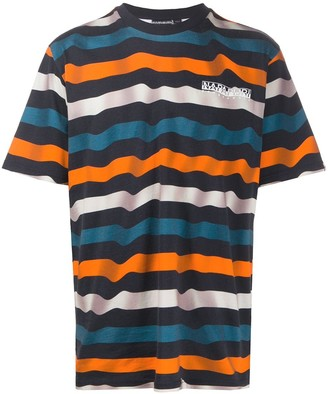 Napapijri striped print T-shirt