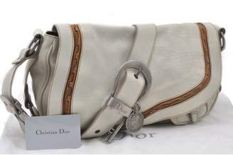 Christian Dior Gaucho White Leather Handbags