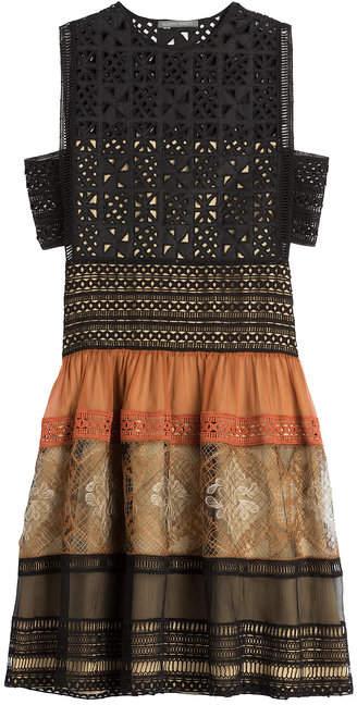 Alberta Ferretti Cotton Dress with Cut-Out Detail