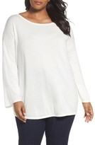 Sejour Plus Size Women's Drop Shoulder Sweatshirt
