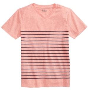 Epic Threads Big Boys Stripe V-Neck T-Shirt, Created for Macy's