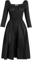 Brock Collection Dorothy square-neck taffeta dress