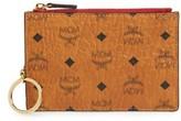 MCM Women's Color Visetos Key Pouch - Brown