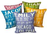 Uptown Artworks Birth Announcement Pillow